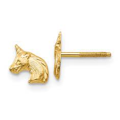 14K Unicorn Post Earrings (Girls')