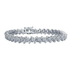 Sterling Silver 0.50 ct. tw. Diamond Bracelet