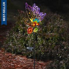 Multi Butterfly Solar Stake Light