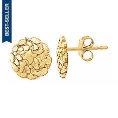 """3/8"""" 10K Gold Nugget Earrings"""