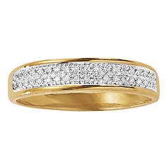 Men's 10K Gold Micropave/Diamond Ring