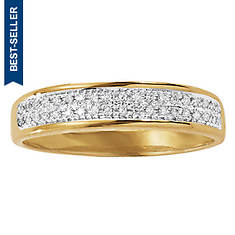 Men's 10K Gold Micropave/Diamond Ring