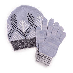 MUK LUKS Women's 2-Piece Beanie and Glove Set