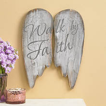 Wooden Angel Wings-Walk by Faith