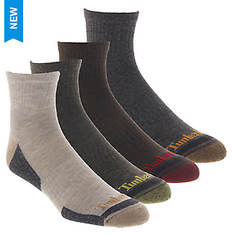 Timberland Men's Comfort Quarter 4-Pack Socks