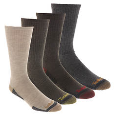 Timberland Men's Comfort Crew 4-Pack Socks