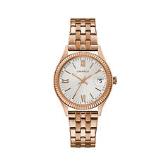 Caravelle By Bulova Rose Gold-Tone Watch