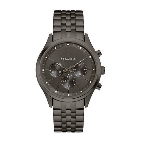 Caravelle By Bulova Ion-Plated Chronograph Watch