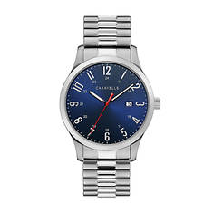 Caravelle By Bulova Blue Dial Stainless Watch