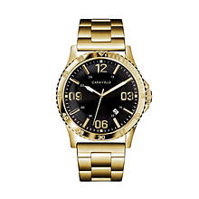 Caravelle By Bulova Gold-Tone Strap Watch