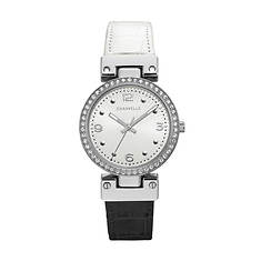 Caravelle By Bulova Crystal Reversible Strap Watch