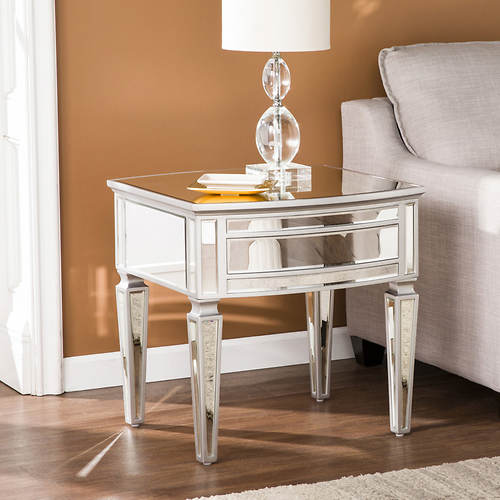 Rochelle Mirrored End Table