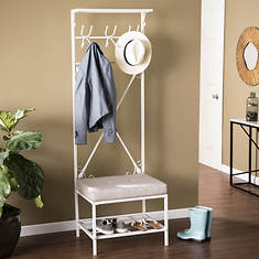 Entryway Hall Tree Bench with Storage