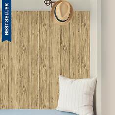 RoomMates Mushroom Wood Peel-and-Stick Wallpaper