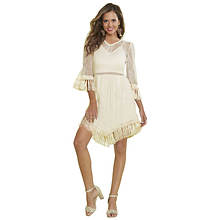 Knotted Fringe Lace Tunic
