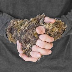Quiet Wear Men's Fingerless Camo Grass Gloves