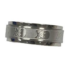 Stainless Steel Skull/Bones Spinner Ring