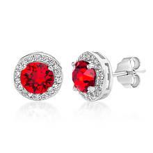 Crystal Round Halo Stud Earrings