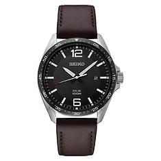 Seiko Solar Leather Strap Watch