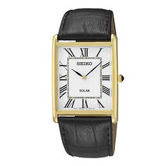 Seiko Solar Leather Strap Quartz Watch