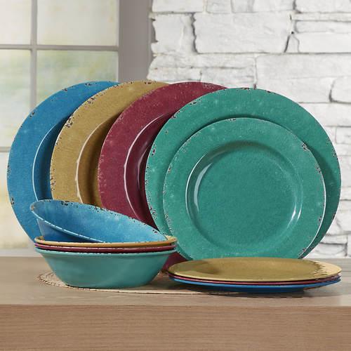 Mauna 12-pc. Melamine Dinnerware Set