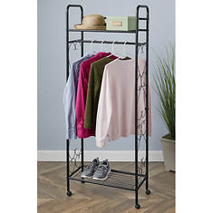 Rolling Clothes Storage Rack