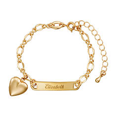 Kids' Heart Locket ID Bracelet