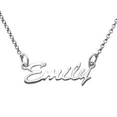 Personalized Kid's Script Name Necklace