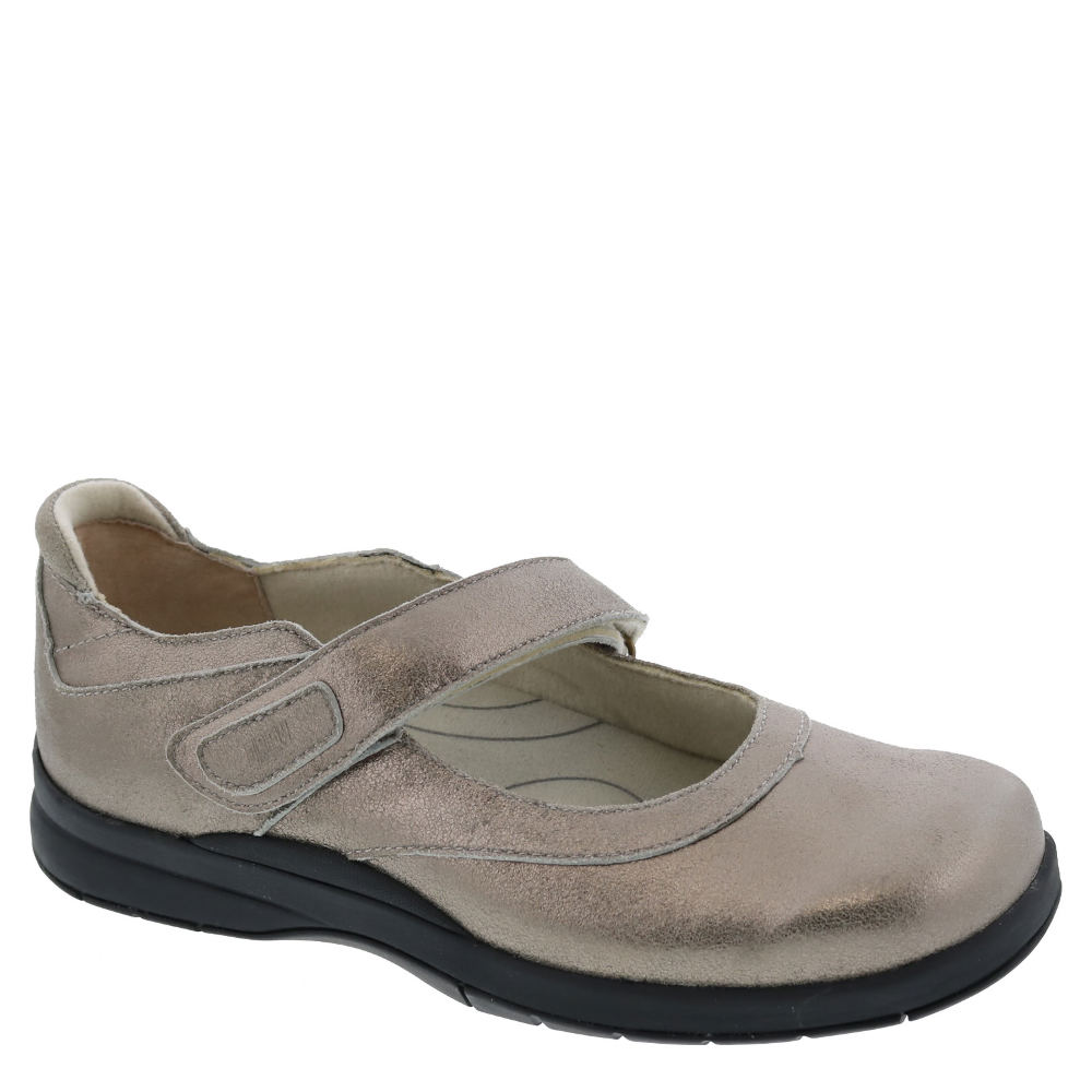 *Drew\\\'s women\\\'s Mary Jane Endeavor combines confident style with superior comfort *Leather upper with Velcro® brand adjustable strap *Drilex® lining with AEGIS microbe shield *Plus Fitting System® - two removable footbeds for added and double depth *Accommodates prescribed orthotics *Removable soft PU footbed with met pad superior arch support and built-in heel cushion *EVA midsole *Tempered steel shank *Firm heel counter *Flexible lightweight rubber outsole