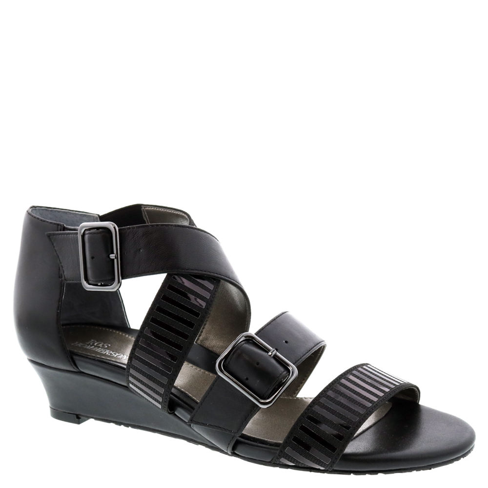 *This curvaceous sandal by Ros Hommerson lives up to its name *Synthetic upper with two adjustable straps *Drilex® lining wicks away moisture *Padded footbed *1-1/4\\\