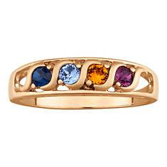 I Love You Birthstone Ring