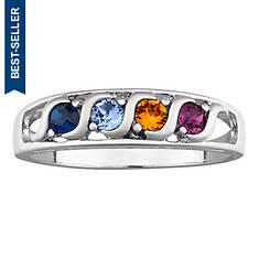 S-Curve I Love You Birthstone Ring
