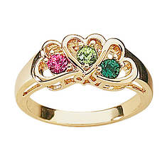 Daughter's Heart Birthstone Ring