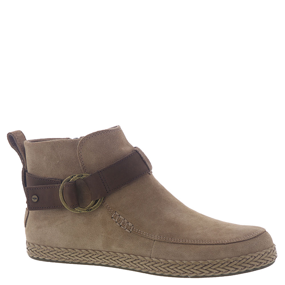*Strut through your day in this fashion-forward bootie *Suede upper with nubuck strap and buckle detail *4-3/4\\\