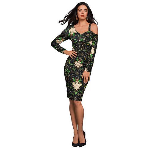 Asymmetric Cold Shoulder Dress