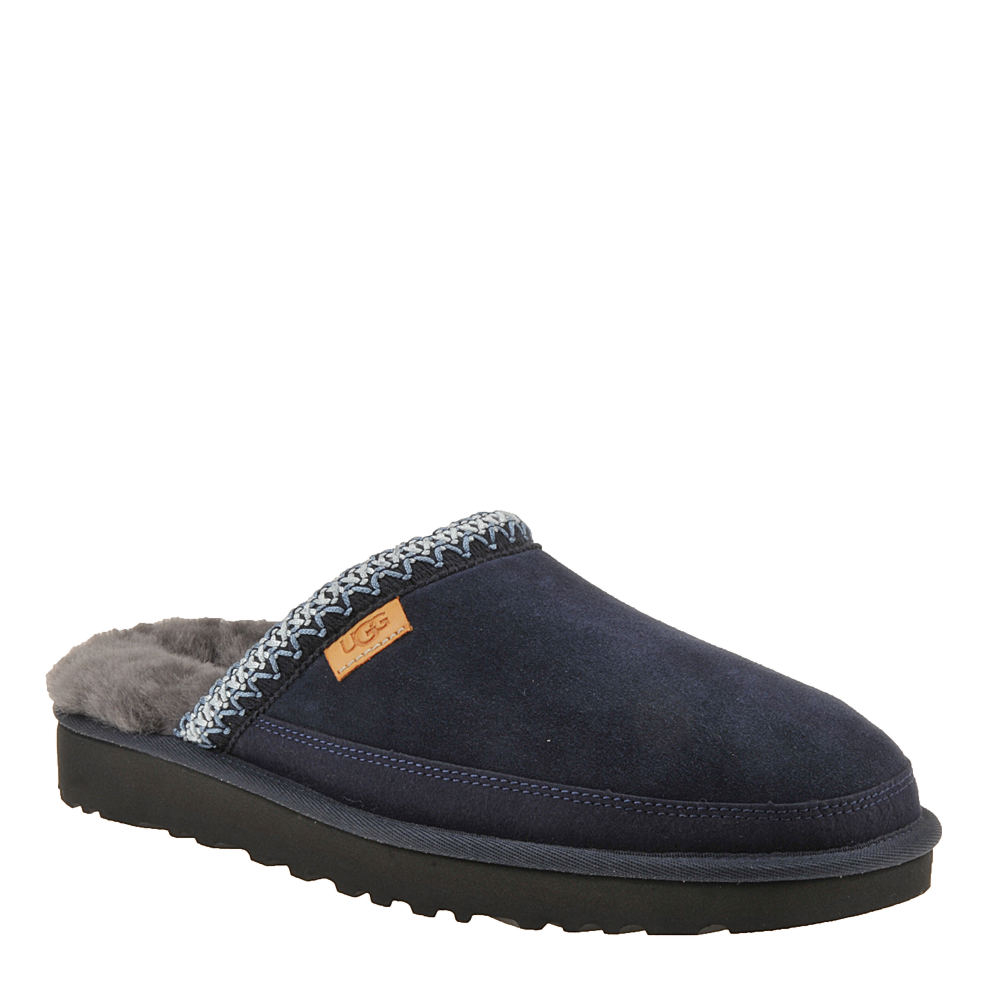 *This UGG® men\\\'s slip-on offers superior comfort *Suede leather upper with UGG® Tasman braid embroidery *Pre-treated to repel water and stains *Easy slip-on styling *Poly-cotton blend lining on the vamp *Plush wool and textile lining *UGGpure™ wool and foam insole *Durable Treadlite by UGG™ sole for comfort *Available in whole sizes only half sizes please order the next size up