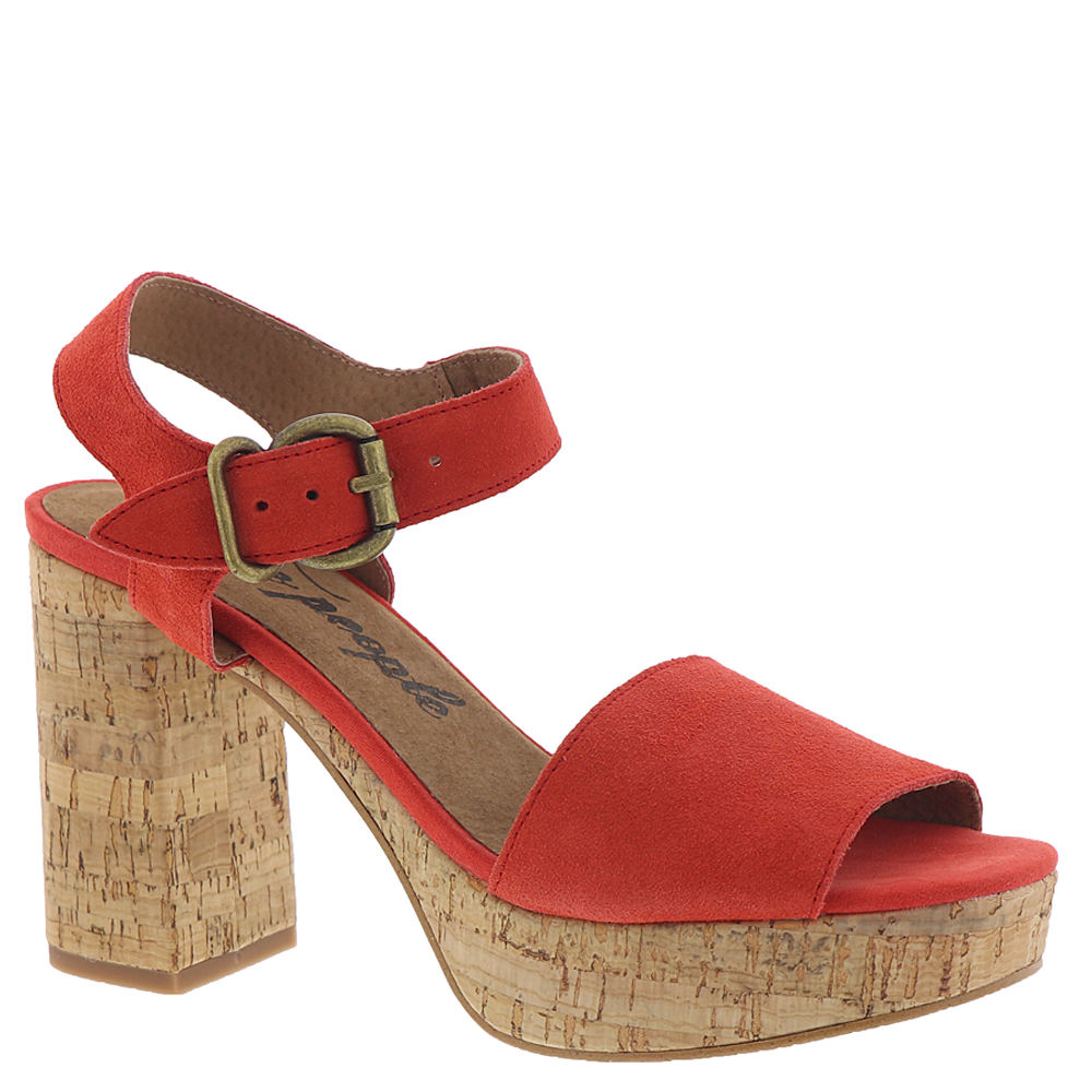 *Pair this retro platform sandal with all your favorite vintage fashions *Suede leather or smooth leather upper *Adjustable buckled ankle strap *Lightly cushioned footbed *Cork-look heel and platform *4-1/4\