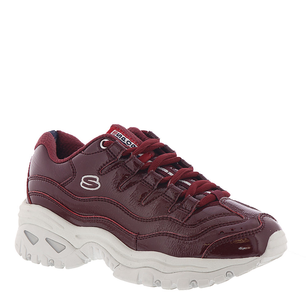 *Shiny or metallic synthetic upper *Cushioned footbed *Durable traction sole