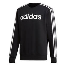 adidas Men's Essentials 3-Stripe Fleece Crew