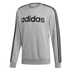 adidas Men's Essentials 3-Stripe Fleece Crew