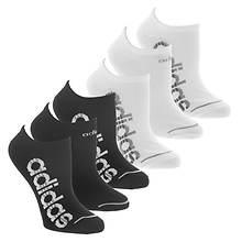 adidas Women's Superlite Linear 6-Pack No Show Socks