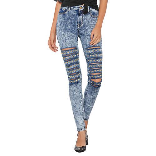 Front Destructed Studded Jean