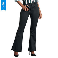 Lace-Up Waist Flare Jean