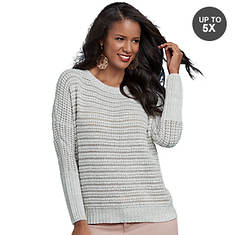Textured Knit Dolman Sweater