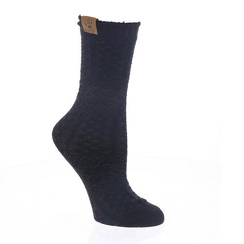 BEARPAW Women's Fairisle Texture Crew Socks