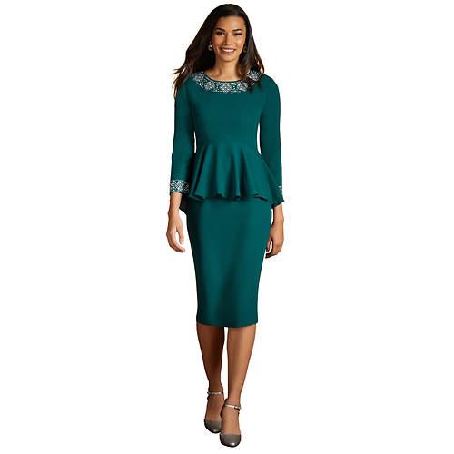 High-Low Embellished Skirt Set