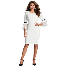 Lace Bell-Sleeved Dress