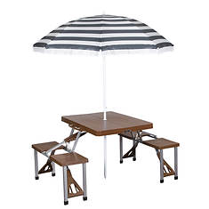 Stansport Portable Picnic Table and Umbrella
