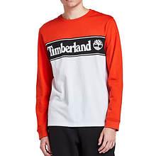 Timberland Men's Long Sleeve Cut/Sew Linear Logo T