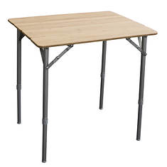 AmeriHome  Adjustable-Height Folding Bamboo Table